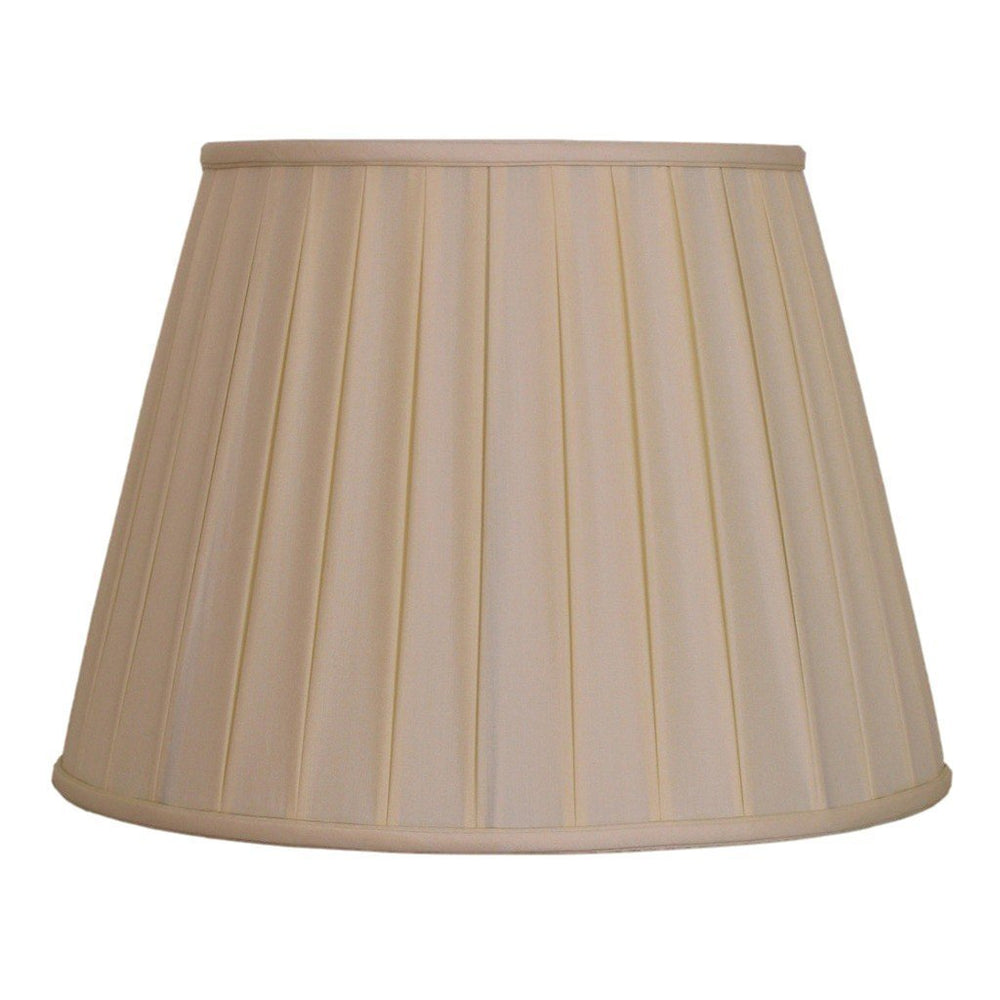 EE lamp shade 6 x 10 x 8'' (Washer) / 100% Pongee Silk / Sand Sand Empire Box Pleated 100% Real Silk Lamp Shade