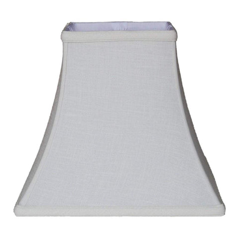EE lamp shade 6 x 11 x 10'' / Linen / White Linen Square Bell Lampshade