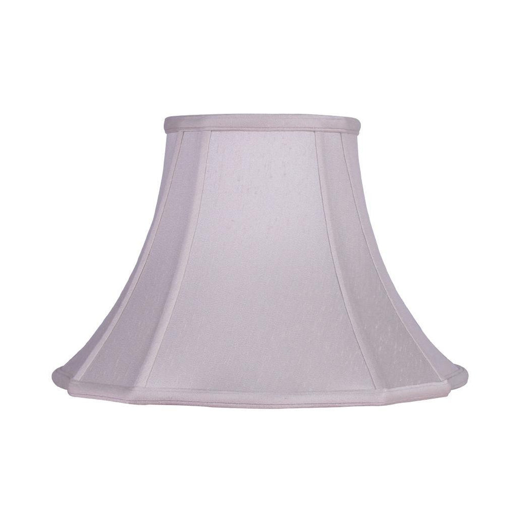 "EE lamp shade 6 x 13 x 9.5"" Washer Natural White Supreme Satin Out Scallop Bell Lamp Shade"