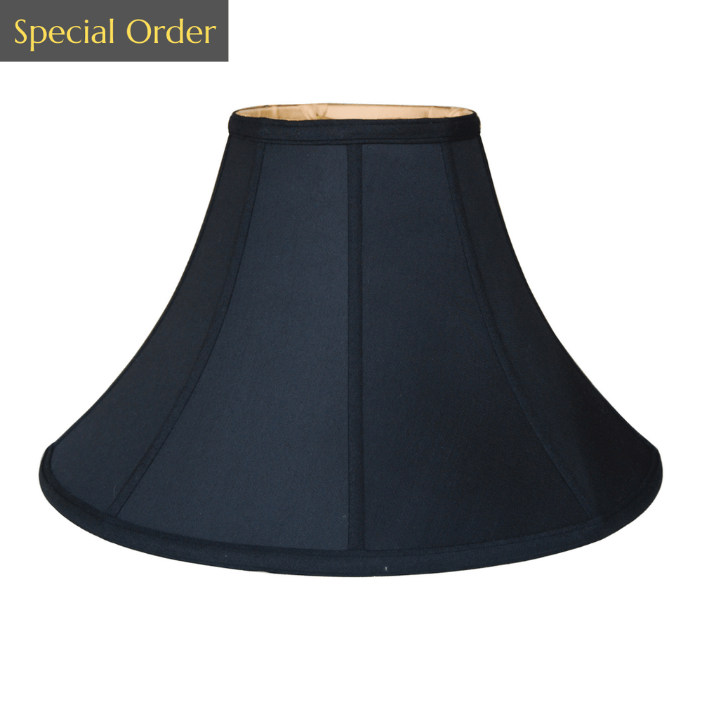 EE lamp shade 6 x 16 x 11'' (Washer) Black Gold Lining Anna (Faux Silk) Asian Lamp Shades