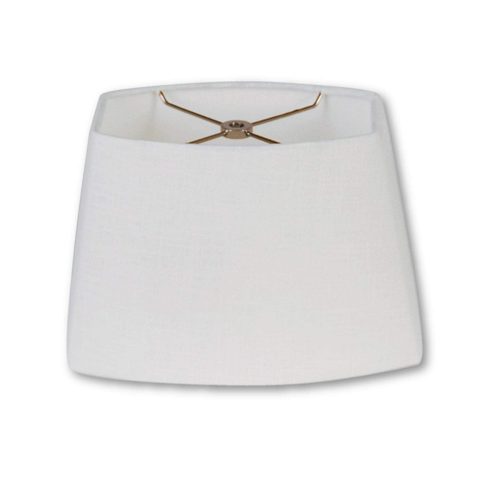 EE lamp shade (6 x 8.5) x ( 7 x 11) 7.5'' / Flax Linen / White Linen Rectangle Oval Hardback Linen Lamp Shade