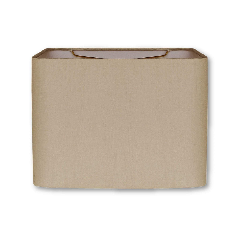 EE lamp shade (8 x 12) x (8 x 12) x 9'' / Pongee Silk / Sand 100% Pongee Silk Sand Retro Rectangle Hardback Lamp Shade