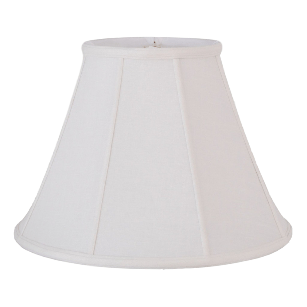 "EE lamp shade 8 x 16 x 12"" (Washer) / Flax Linen / White White Flax Linen Empire Lamp Shade"