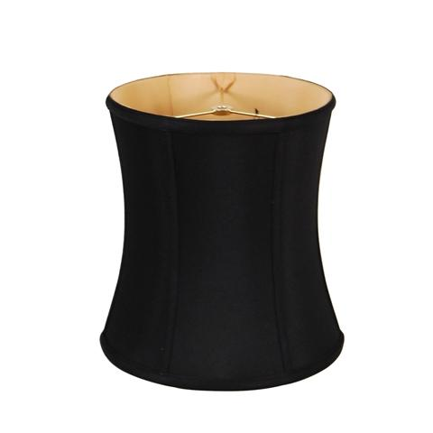 EE lamp shade 9 x 10 x 11'' (Washer) Black Gold Lining Anna (Faux Silk) Deep Cylinder Drum Lamp Shade