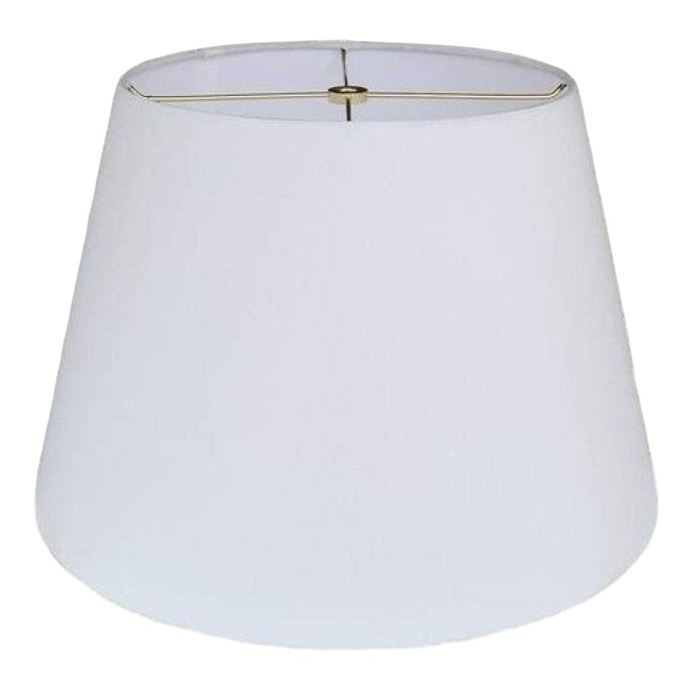 EE lamp shade 9 x 12 x 9'' (Washer) / Anna / Off White Anna British Empire Hardback Lamp Shade