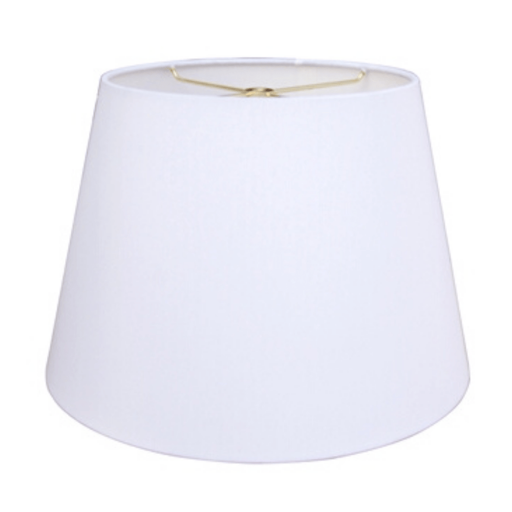 EE lamp shade 9 x 12 x 9'' (Washer) White Anna (Faux Silk) British Empire Hardback Lamp Shade