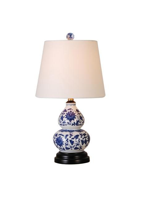 EE Mini Lamps Blue & White Gourd Porcelain Mini Lamp