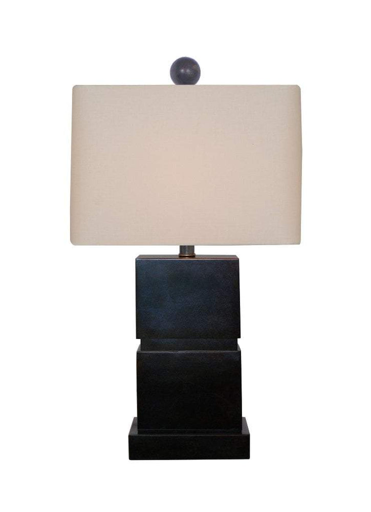 EE Mini Lamps Medium Square Jade Table Lamp + FREE FINIAL