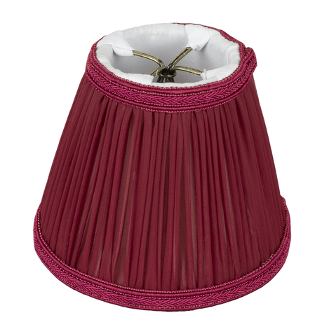 "Lamp Shade Solution 2.75 x 5 x 4.25"" / Chiffon / Rose Red Rose Red Empire Chandelier Hand Craft Pleated Lamp Shade"