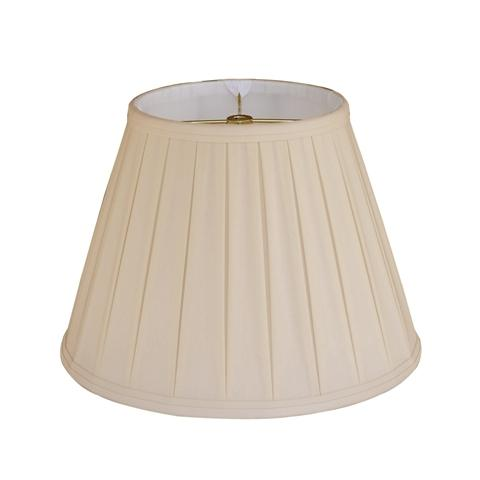 Lamp Shade Solution Anna (Faux Silk) Sand Empire English Pleat Lamp Shade