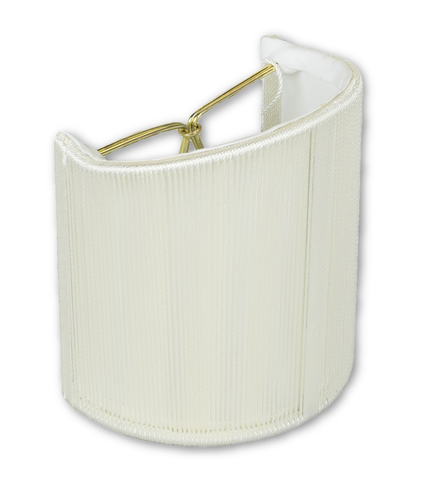 Lamp Shade Solution lamp shade 4 x 4 x 4.5'' (Candle Clip) / Silk String / Off White String Shell Wall Sconce Soft Lining Lamp Shade