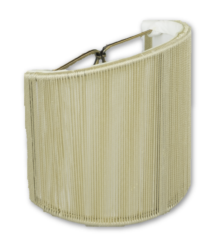 Lamp Shade Solution lamp shade 4 x 4 x 4.5'' (Candle Clip) / Silk String / Taupe String Shell Wall Sconce Soft Lining Lamp Shade