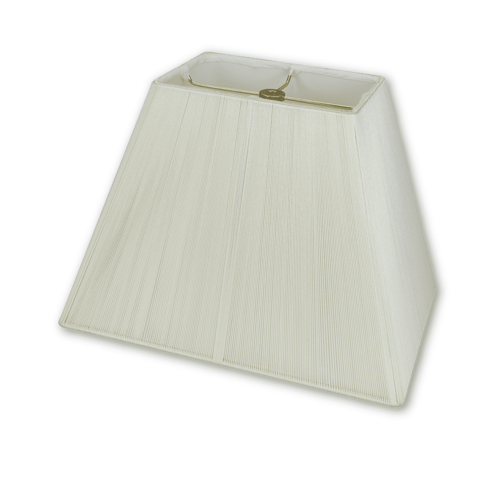 Lamp Shade Solution lamp shade (5.25 x 7.5) x (9.5 x 14) x 11'' / Silk String / Off White Rectangle Silk String Lamp Shade