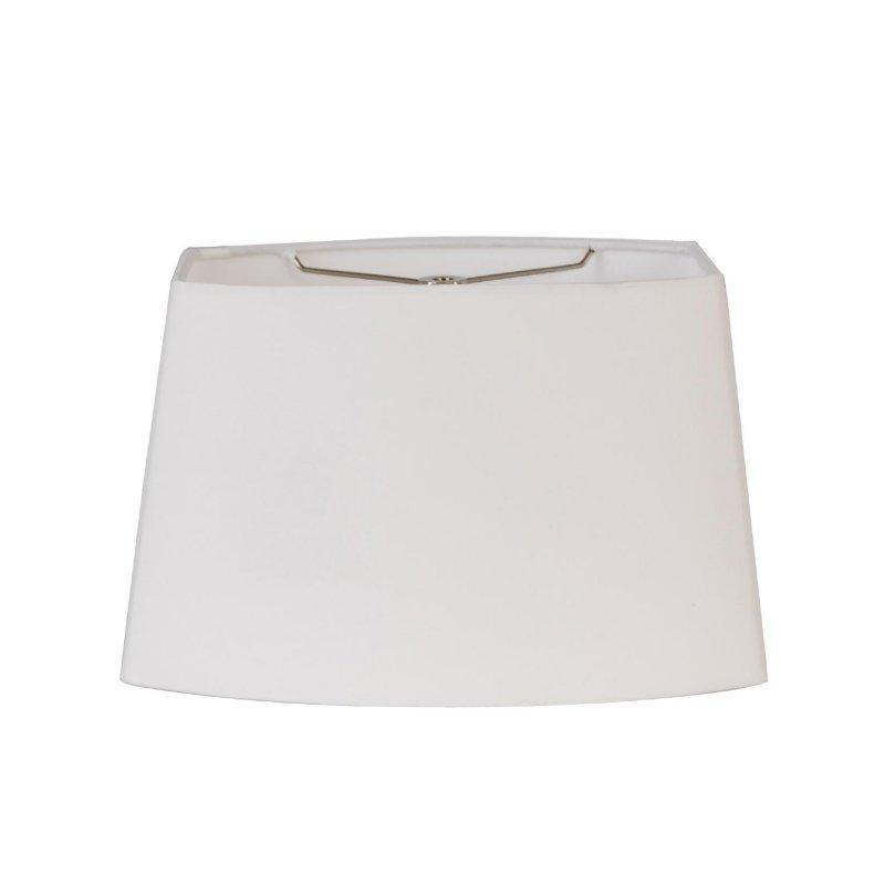 Rectangle Oval Hand Rolled Edge Hard Back Lamp Shade