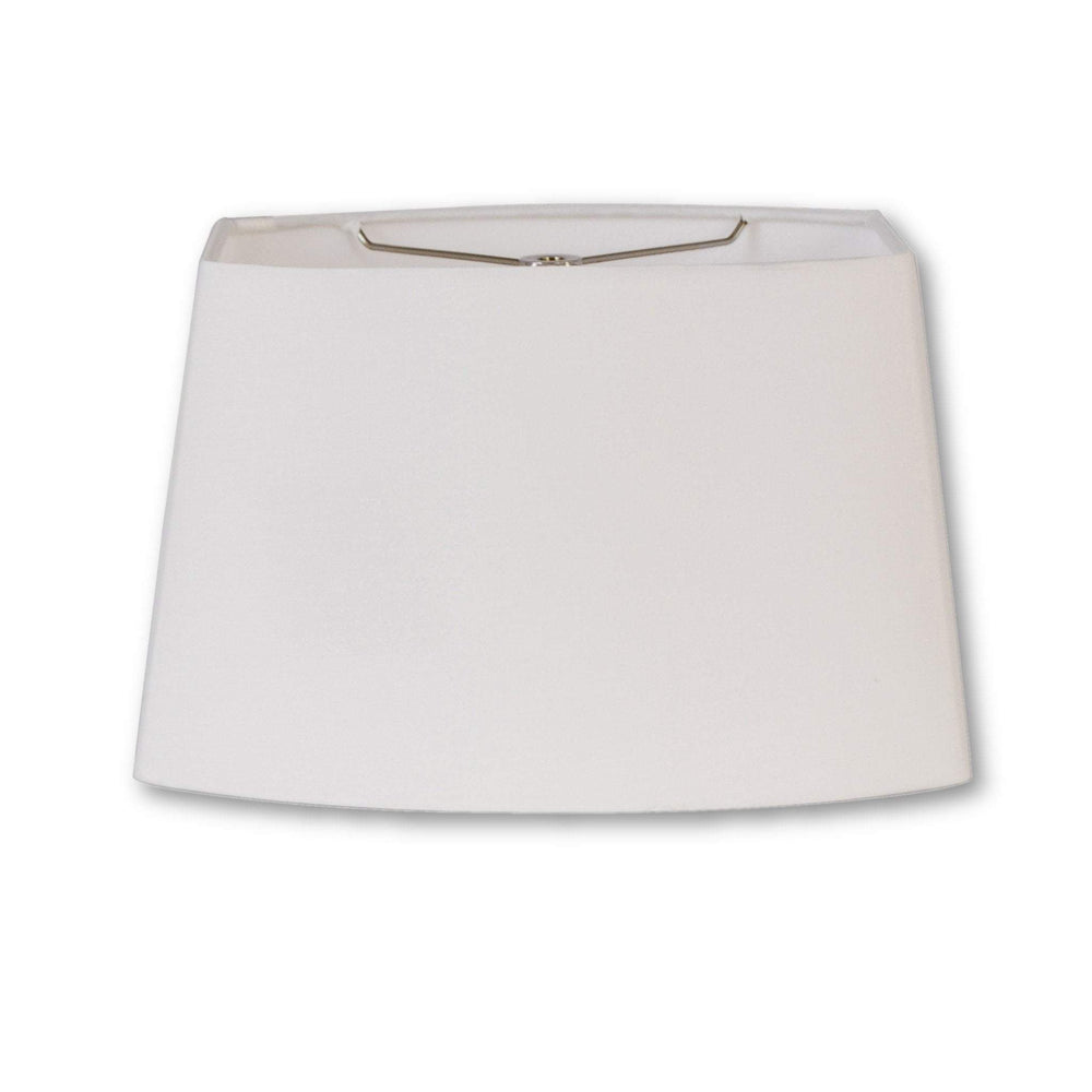 lamp shade (6 x 8.5) x ( 7 x 11) 7.5'' / Handkerchief Cotton Linen / Off White Rectangle Oval Hardback Linen Lamp Shade