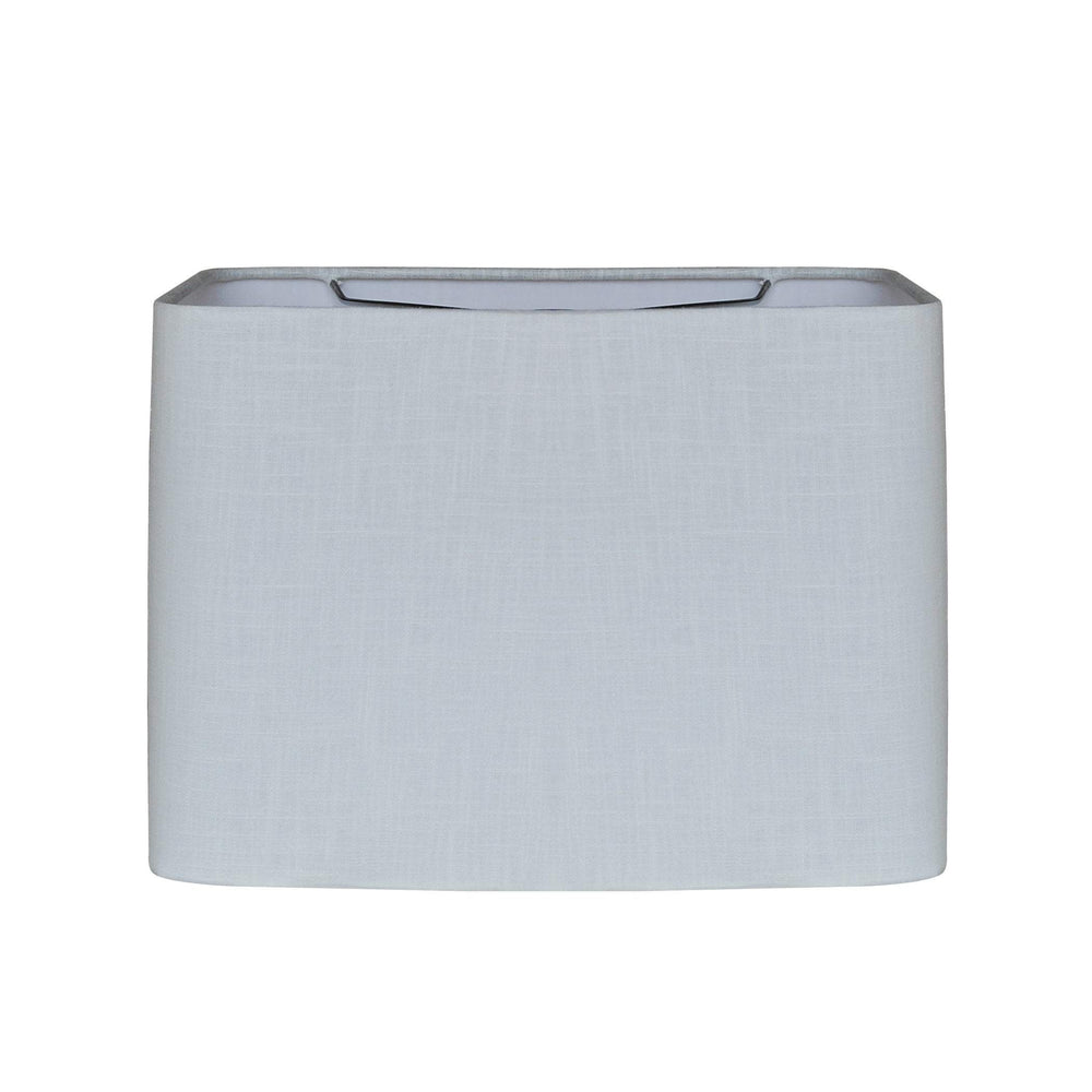 "Lamp Shade Solution lamp shade 8x12  8x12 9""	(Washer) / Fine Linen / White Retro Rectangle Hand Rolled Edge Hard Back Lamp Shade"