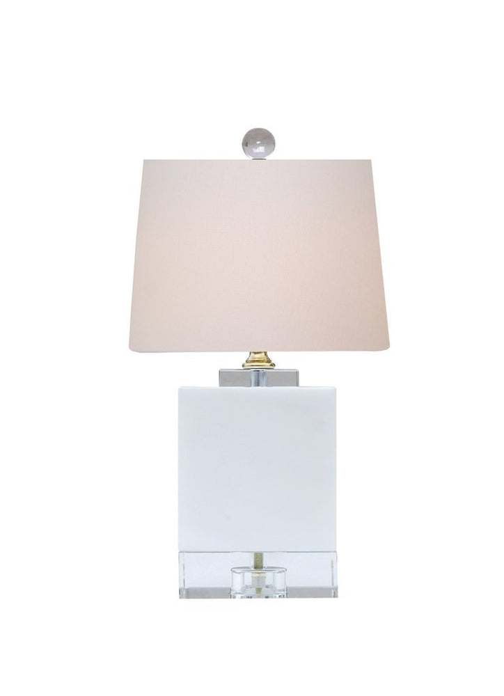 Lamp Shade Solution White Jade Crystal Mini Table Lamp