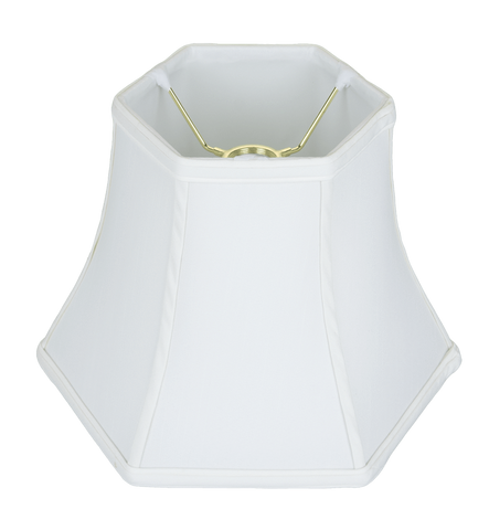 lamp shade 6 x 10 x 8 (Resc'd: 1.5'') / Shantung / White Uno Hexagon Bell Lamp Shade