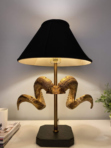 ML lamp shade Black Coolie with Piping Lamp Shade