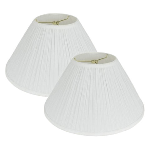 ML lamp shade Set of 2 Mushroom Coolie Hardback Pleated Lamp Shade