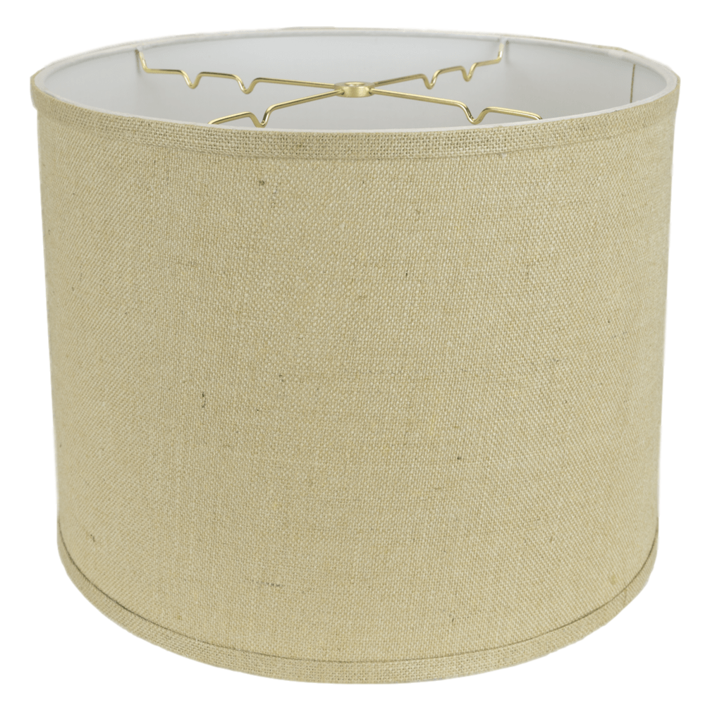 "lamp shade 13 x 14 x 11"" / Burlap / Natural Burlap Regular Hardback Drum Lamp Shade"