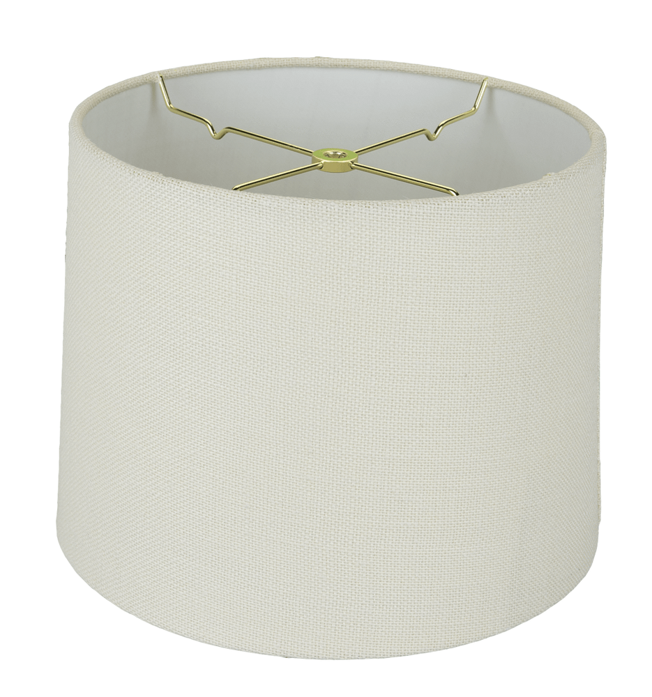 lamp shade 13 x 14 x 9.5'' / Linen / Ivory Linen Hardback Shallow Drum Lamp Shade