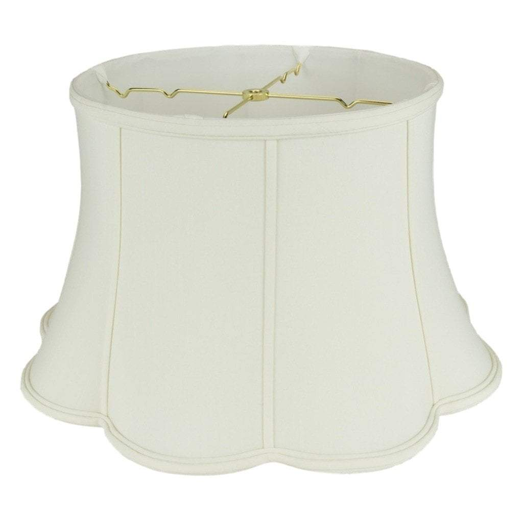 Bell Out Scallop Bottom Floor Lamp Shade - 13 x 19 x 11''