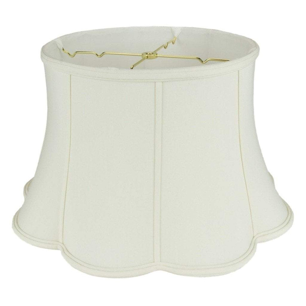 lamp shade 13 x 19 x 11'' / Shantung / Eggshell Bell Out Scallop Bottom Floor Lamp Shade