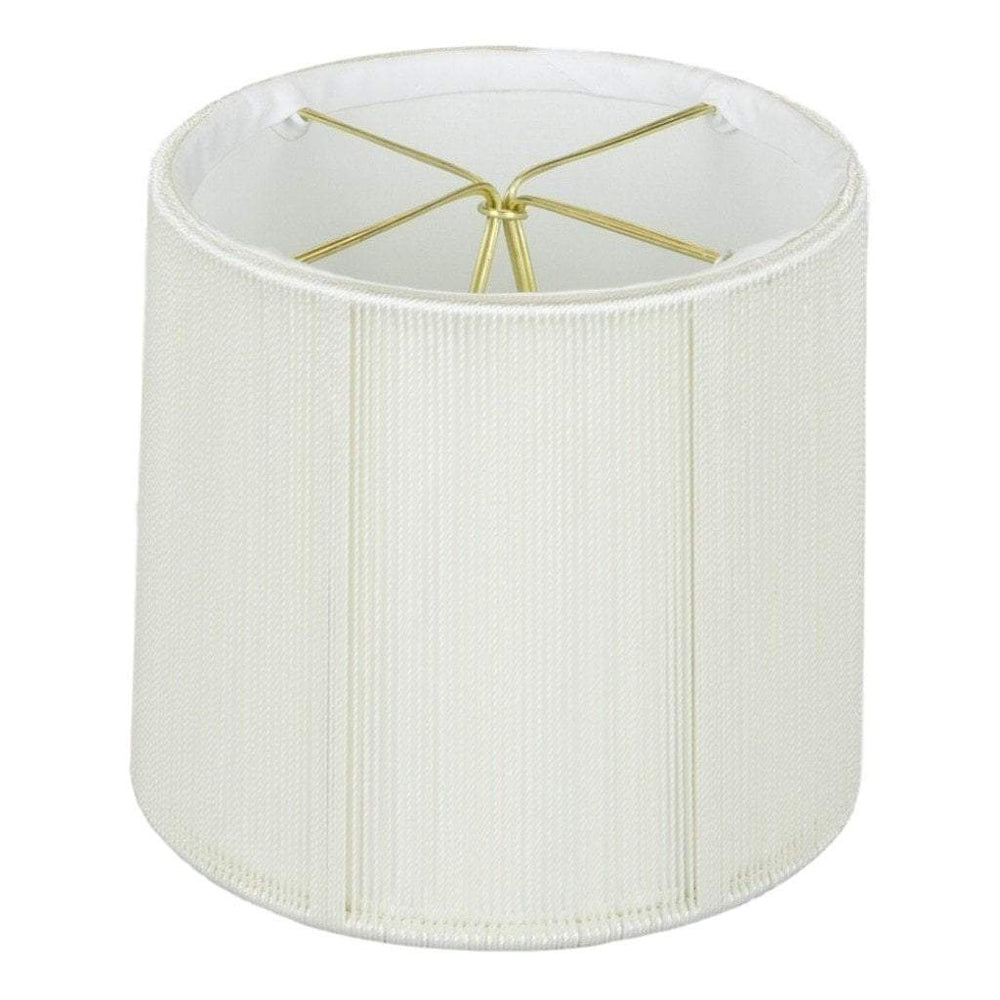 "lamp shade 3.5 x 4 x 4"" (Candle Clip) / String / Off White Drum Chandelier Soft Lining Lamp Shade"