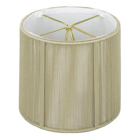 "lamp shade 3.5 x 4 x 4"" (Candle Clip) / String / Taupe Drum Chandelier Soft Lining Lamp Shade"