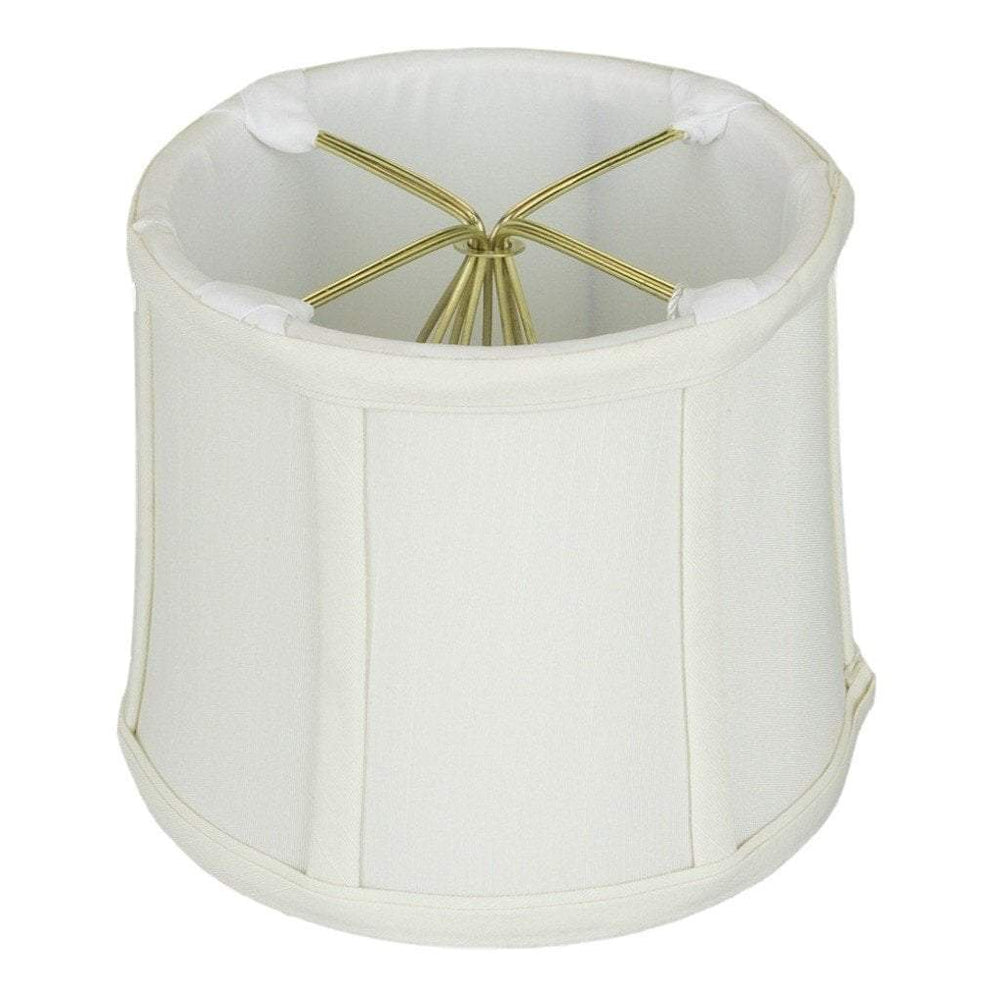 "lamp shade 3.5 x 4 x 4""   (Cross Clip) / Shantung / Eggshell Drum Chandelier Clip-on Lamp Shade"
