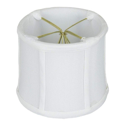 "lamp shade 3.5 x 4 x 4""   (Cross Clip) / Shantung / White Drum Chandelier Clip-on Lamp Shade"