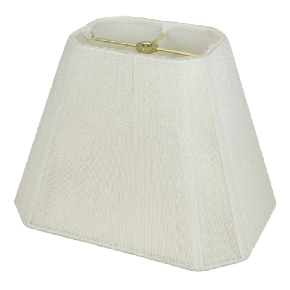 lamp shade (3 x 4.5) x (5.25 x 8) x 6.5'' / Silk String / Off White Rectangle Cut Corner Silk String Lamp Shade