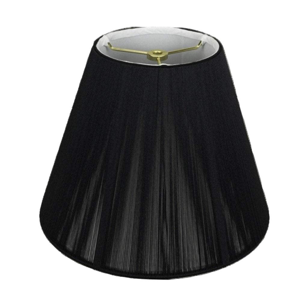 Monter Lite lamp shade 3 x 4 x 4'' (candle clip) / Silk String / Black Black Empire Chandelier Soft Lining Silk String Lamp Shade