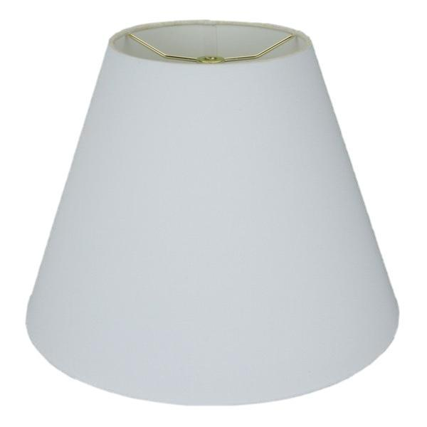 lamp shade 3 x 4 x 4'' / Handkerchief Linen / Off White Handkerchief Linen Empire Chandelier Rolled-Edge Hardback Lamp Shade