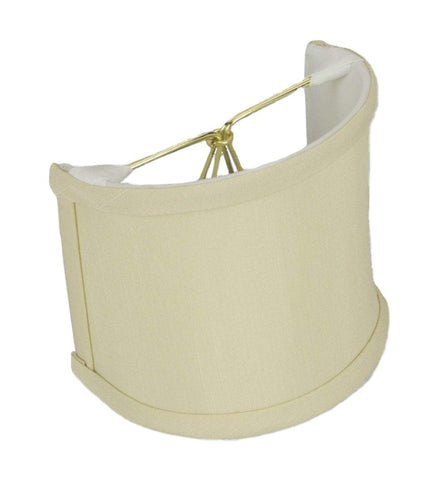 "lamp shade 4 x 4 x 4.25""  (Candle Clip) / Shantung / Beige Shantung Shell Wall Sconce Lampshade"