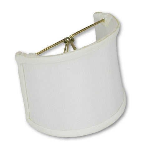 "lamp shade 4 x 4 x 4.25""  (Candle Clip) / Shantung / White Shantung Shell Wall Sconce Lampshade"