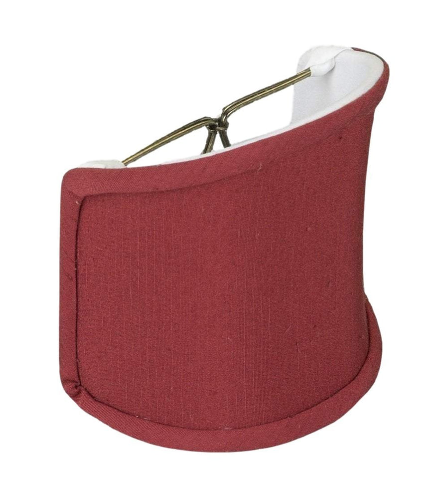 "lamp shade 4 x 4 x 4.5""  (Candle Clip) / Shantung / Brick Red Shantung Shell Wall Sconce Lampshade"