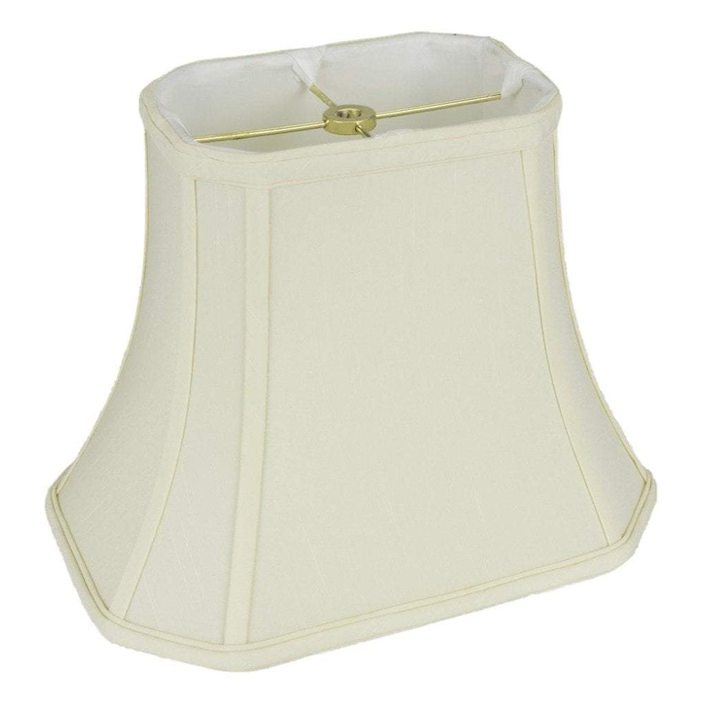 "lamp shade (4 x 5) x (6 x 8) x 6.5"" / Shantung / Eggshell Cut Corner Rectangle Lamp Shade"