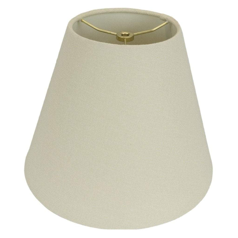 Monter Lite lamp shade 4 x 8 x 6.5'' / Homespun Linen / Beige Empire Hand Rolled Edge Hardback Lamp Shade