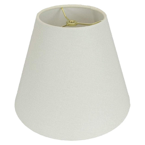 Monter Lite lamp shade 4 x 8 x 6.5'' / Homespun Linen / Cream Empire Hand Rolled Edge Hardback Lamp Shade