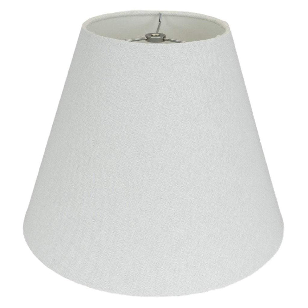 lamp shade 4 x 8 x 6.5'' / Linen / White Empire Hardback with Chrome Spider Lamp Shade
