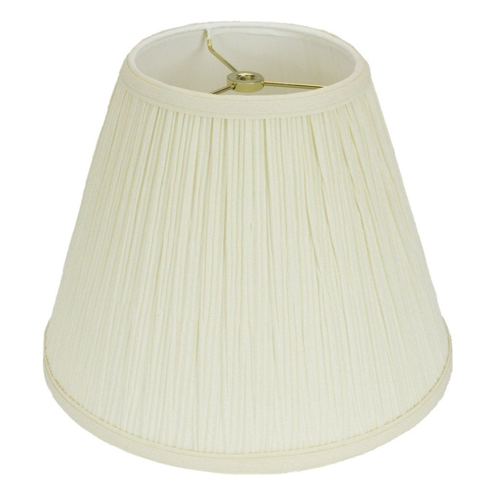 lamp shade 4 x 8 x 6.5'' / Mushroom / Eggshell Empire Pleated Hardback Lamp Shade