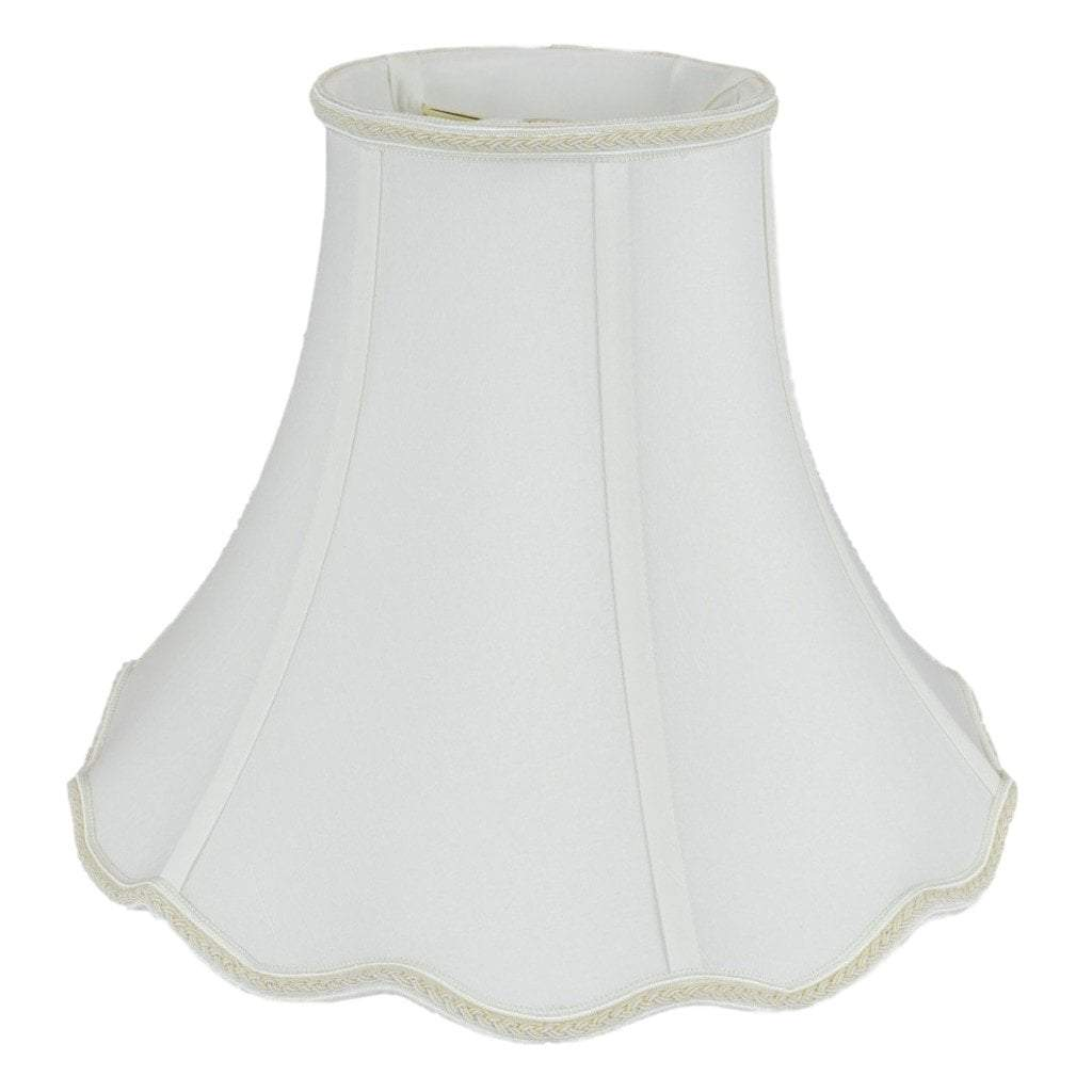 Bell Scallop Bottom With Piping Lampshade Traditional