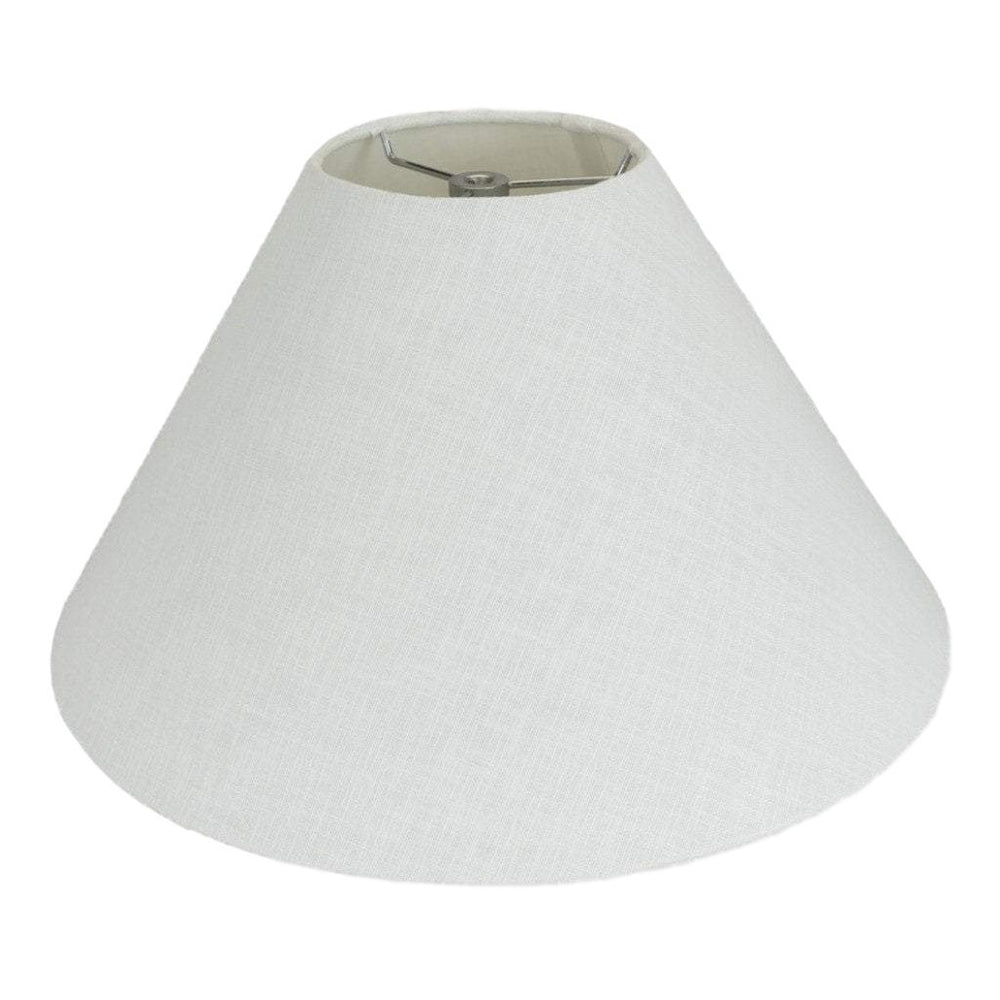 "lamp shade 5.5 x 16 x 10"" / Linen / White Coolie Hardback with Chrome Spider Lamp Shade"
