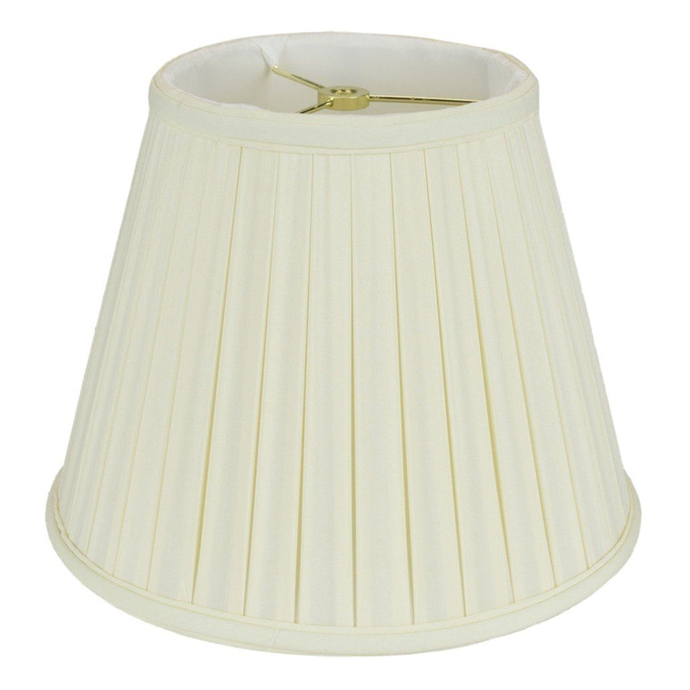 "lamp shade 5 x 8 x 6.5"" / Shantung / Eggshell Empire Box Pleated Lamp Shade"