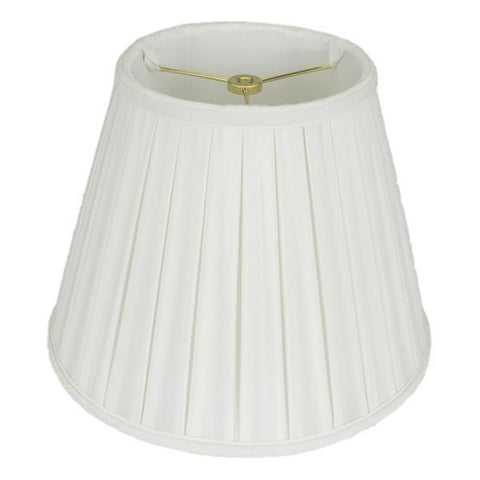 lamp shade 5 x 8 x 6.5'' / Shantung / White Empire Box Pleated Lamp Shade