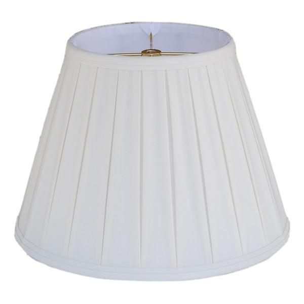 lamp shade 6 x 10 x 8'' / Anna Rayon / Off White Empire English Pleated Lamp Shade