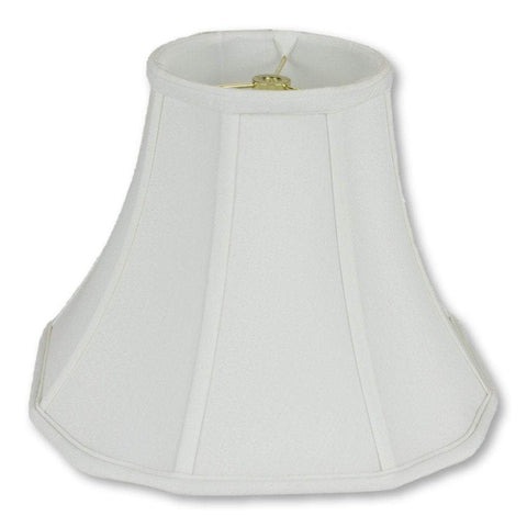 "lamp shade 6 x 12 x 9.5"" / Shantung / White Fancy Scallop Bottom Lamp Shade"