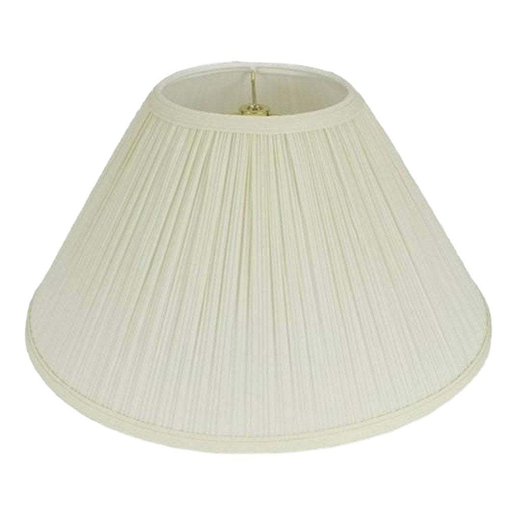 lamp shade 6 x 16 x 10'' / Mushroom / Eggshell Coolie Hardback Pleated Lamp Shade